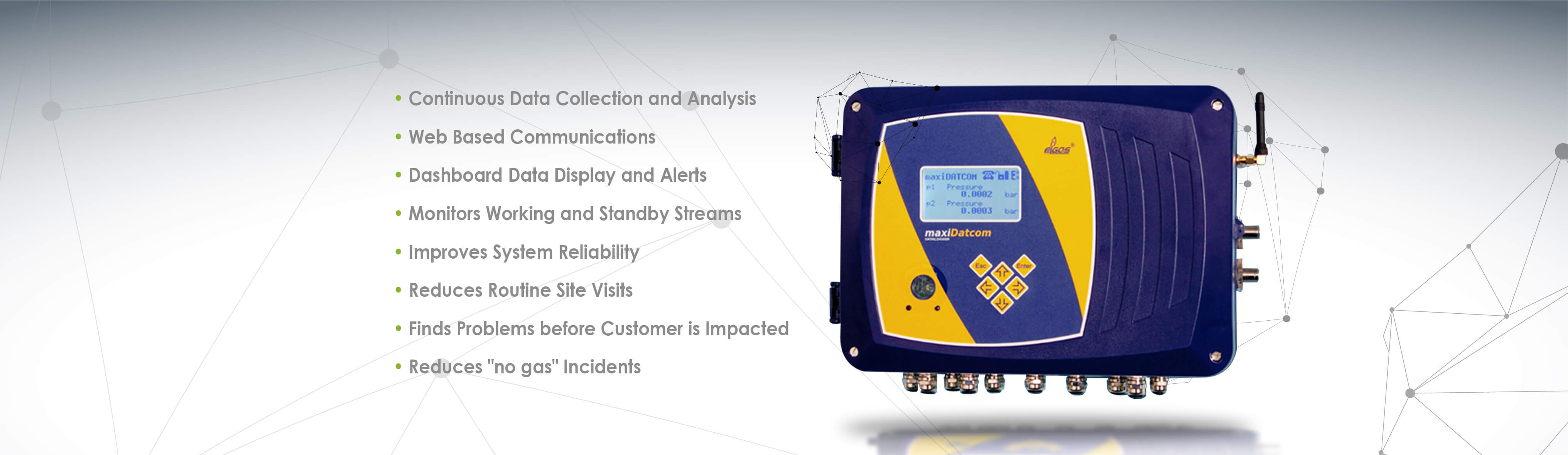 Elgas MaxiDatcom With Sensor Log Software
